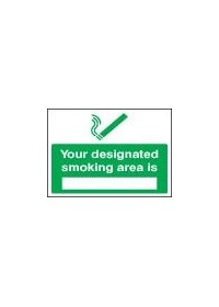 Your designated smoking area is sign