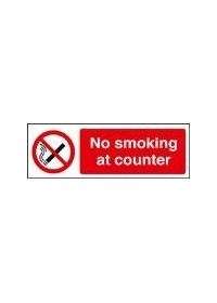 No smoking at counter sign