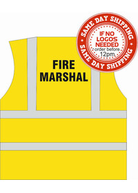 Fire Marshal Hi Vis Vest printed