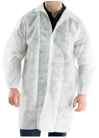 Disposable Coat Polypropelene White