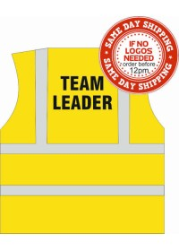 Team Leader Printed Hi Vis Vest