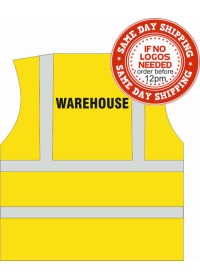 Hi Vis vest with warehouse print