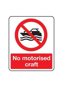 No motorised craft sign
