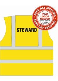 Steward Printed hi vis vest