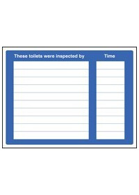 These toilets were inspected sign