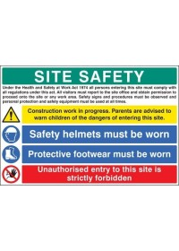 Site Safety H&S act sign