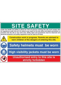 Site construction work in progress sign