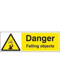 Danger falling objects sign