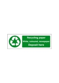 Recycling paper sign