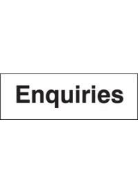 Enquiries sign