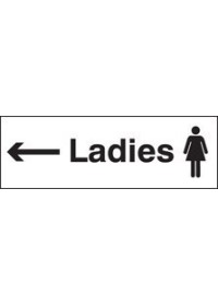 Ladies arrow left sign