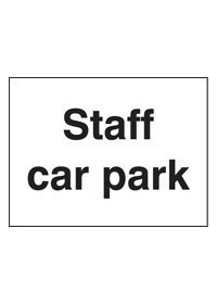 Staff Car Park sign