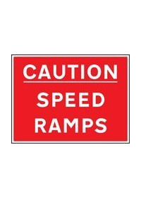 Caution speed ramps sign