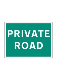 Private road sign