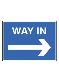 Way in right sign