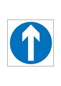 Straight ahead only sign