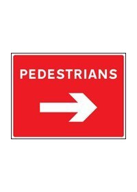 Pedestrians right sign