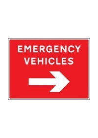 Emergency vehicles right sign