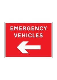 Emergency vehicles left sign
