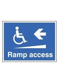 Ramp access left sign