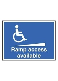 Ramp access available sign