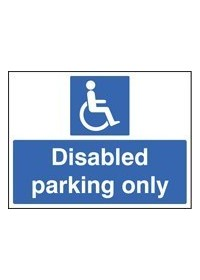 Disabled parking only sign