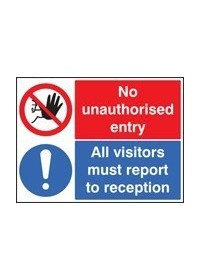 No unauthorised entry, all visi