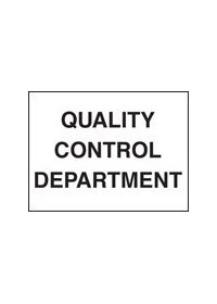 QC department sign