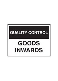 QC goods inward sign