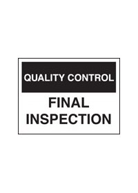 QC final inspection sign