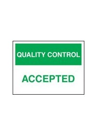 QC accepted sign