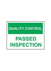 QC passed inspection sign