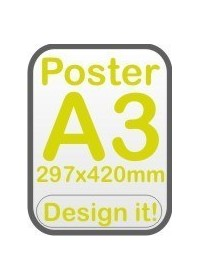 Custom Printed Poster A3 size 297mm x 420mm