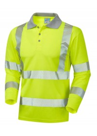 Leo Hivis Long Sleeved Polo Shirt Coolviz P08