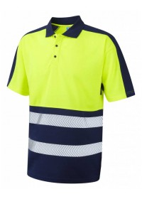 Leo Coolviz 2 Colour Hivis Polo Shirt P10