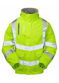 Pulsar Padded Yellow Hi Vis Bomber Jacket PR91
