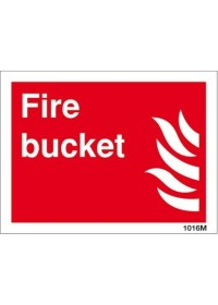 Fire bucket sign 21015hv