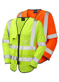 Long Sleeve Hi Vis Vest with Pockets LEO S12