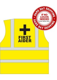 Yellow First Aid Printed Vest