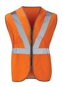 Custom printed Pull Apart Hi Vis Railway vest Waistcoat