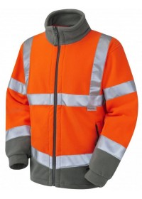 Orange Hi Vis Fleece Railway spec