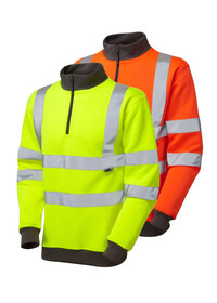 Hivis Sweatshirt Quarter Zip LEO SS01