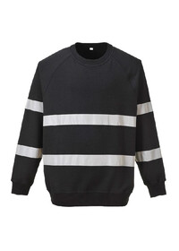 Black Hi Vis sweatshirt b307