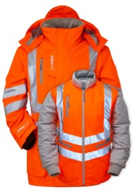 Pulsar 7 in 1 Interactive Orange Hi Vis Coat PR497