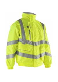 Pulsar Unpadded Yellow Hi Vis Bomber Jacket P533