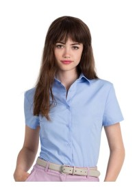 Women's Short Sleeve Poplin Shirt SWP64 B&C
