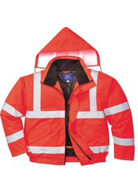 Red Hi Vis Bomber Jacket Portwest S463