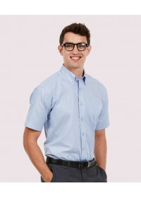 Mens Pinpoint Oxford Half Sleeve Shirt