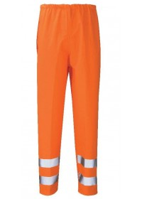 Hi Vis Waterproof Orange Rail trousers GORT 3279
