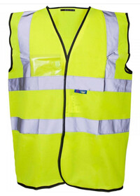 HI Vis Vest with ID Pocket